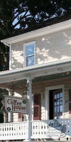 The Coffee House of Occoquan shown with open door